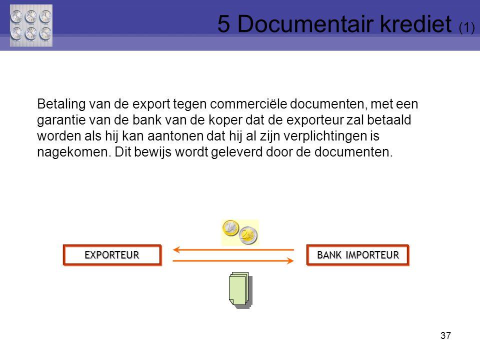 Betaling van de export tegen commerciële documenten, met een garantie van de bank van de koper dat de exporteur zal betaald worden als hij kan aantonen dat hij al zijn verplichtingen is nagekomen.
