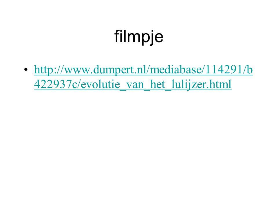 filmpje http://www.dumpert.nl/mediabase/114291/b 422937c/evolutie_van_het_lulijzer.htmlhttp://www.dumpert.nl/mediabase/114291/b 422937c/evolutie_van_het_lulijzer.html