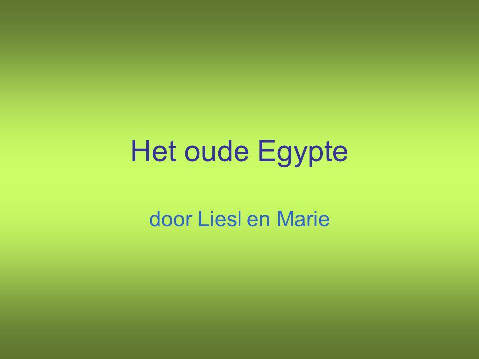 Het oude Egypte door Liesl en Marie