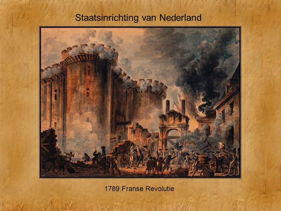 Staatsinrichting van Nederland 1789 Franse Revolutie