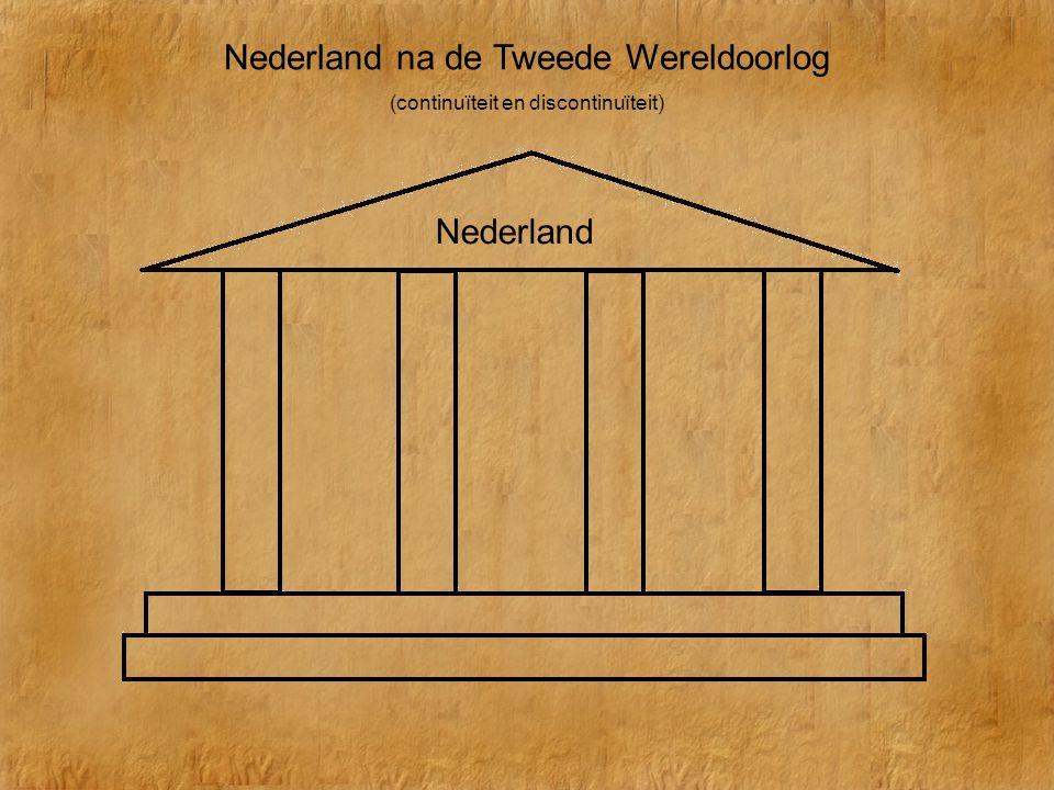 Nederland na de Tweede Wereldoorlog (continuïteit en discontinuïteit) Nederland