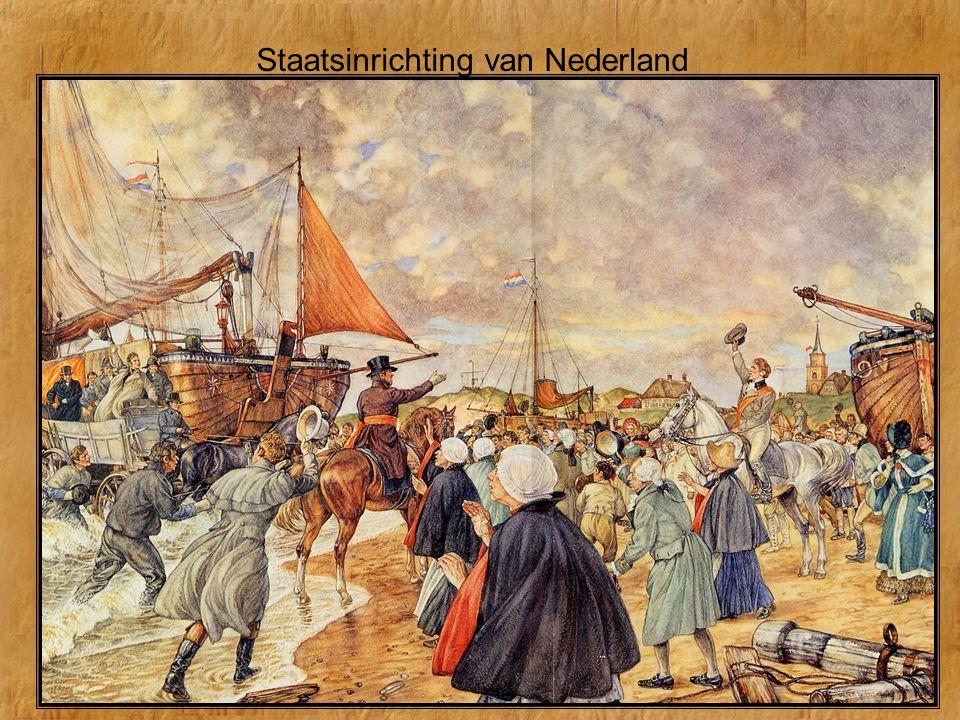 Staatsinrichting van Nederland http://www.schooltv.nl/beeldbank/clipdigibord/20040317_aletta02 http://www.schooltv.nl/beeldbank/clipdigibord/20080906_degrondwet01 http://www.schooltv.nl/beeldbank/clippopup/20101104_democratie01