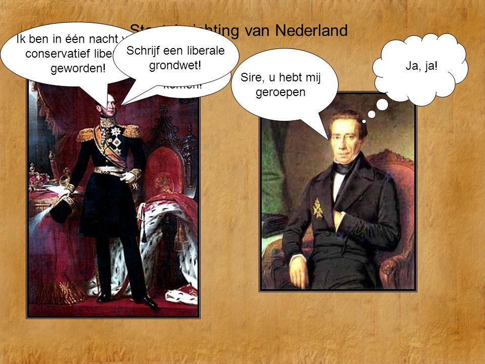 Staatsinrichting van Nederland -Iedereen gelijk voor de wet -De koning wordt onschendbaar -De ministers krijgen ministeriële verantwoordelijkheid -De Tweede Kamer wordt gekozen en krijgt wetgevende macht -Census kiesrecht