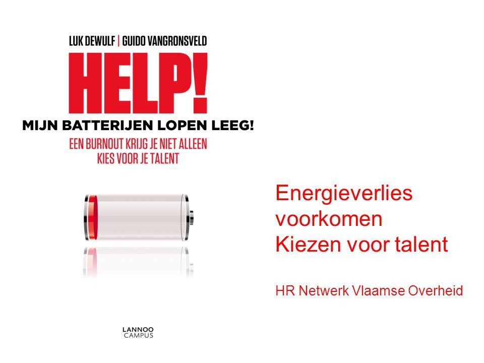Energieverlies voorkomen Kiezen voor talent HR Netwerk Vlaamse Overheid
