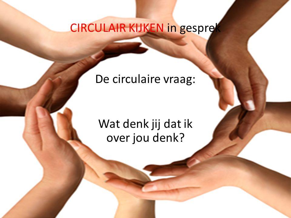 CIRCULAIR KIJKEN in gesprek De circulaire vraag: Wat denk jij dat ik over jou denk?