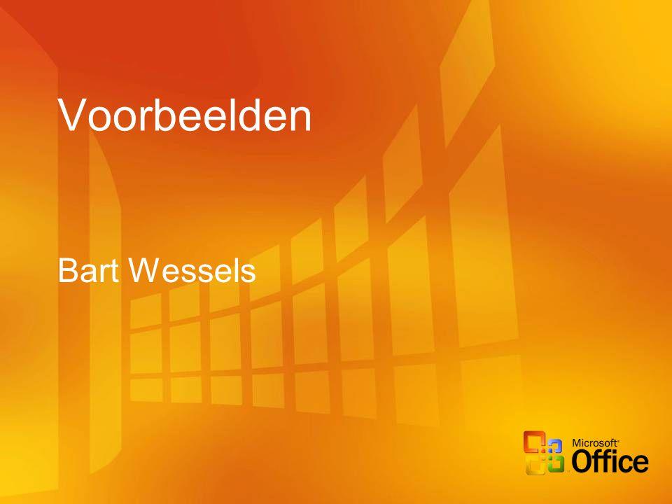 Voorbeelden Bart Wessels