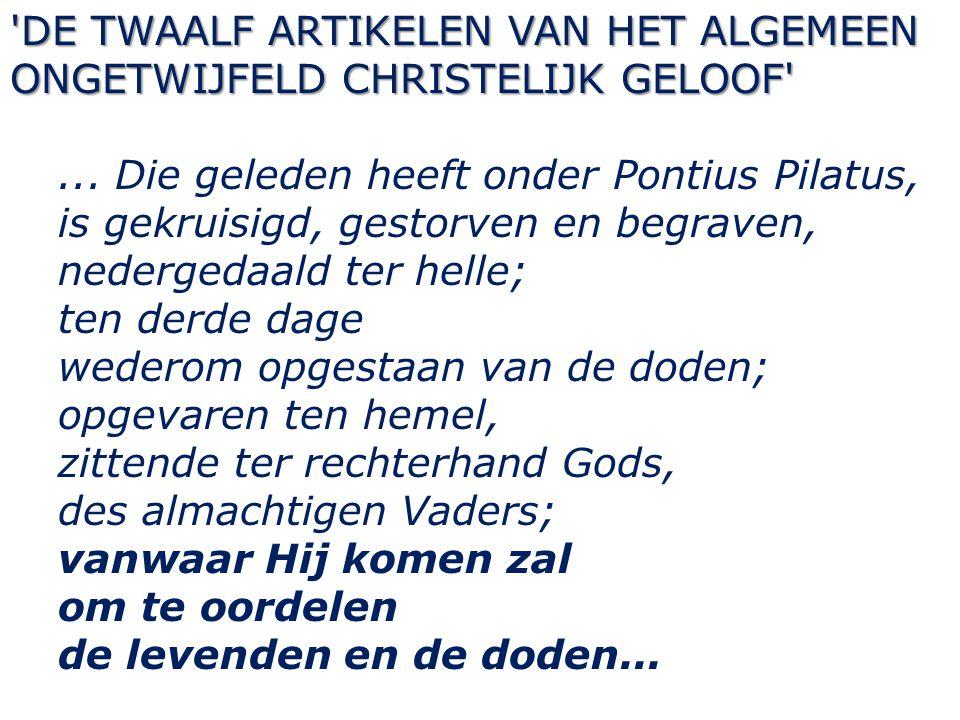 DE TWAALF ARTIKELEN VAN HET ALGEMEEN ONGETWIJFELD CHRISTELIJK GELOOF ...