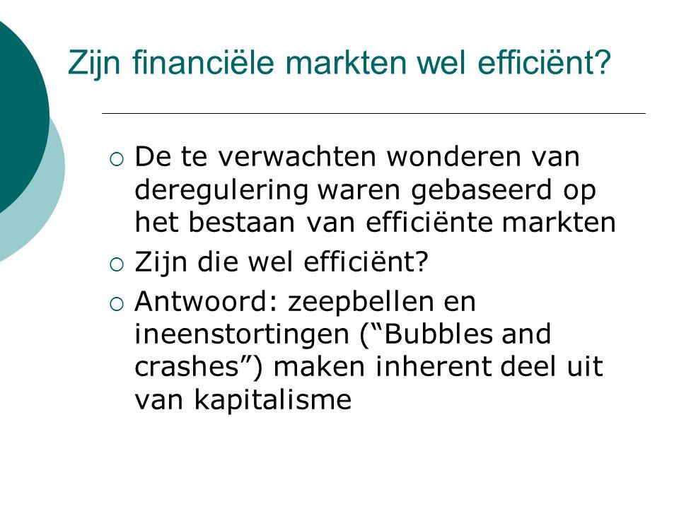 Zijn financiële markten wel efficiënt.