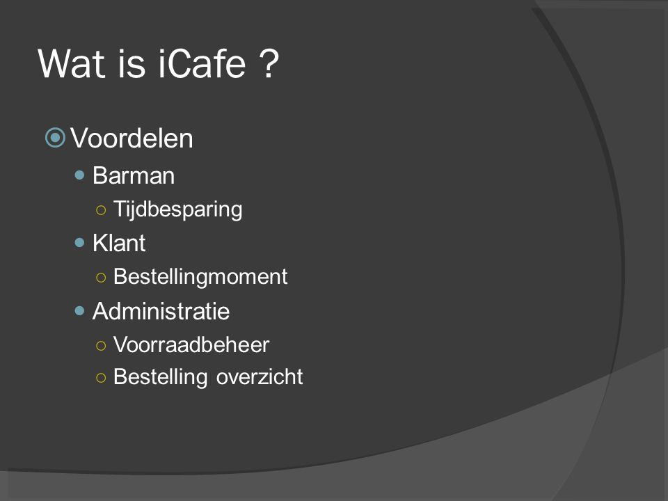 Wat is iCafe .