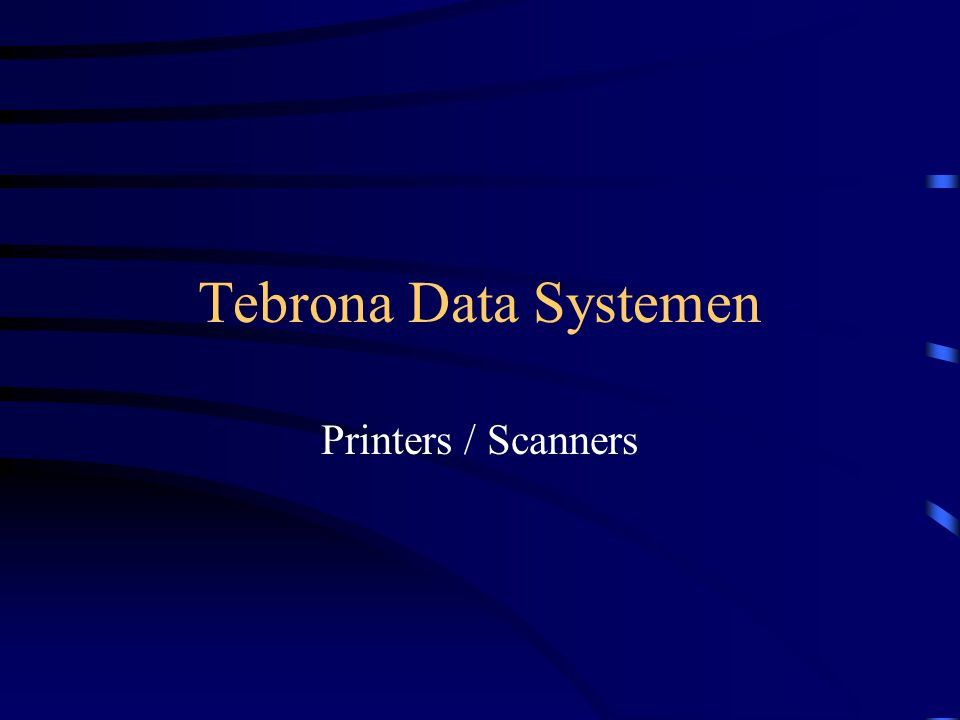 Tebrona Data Systemen Printers / Scanners