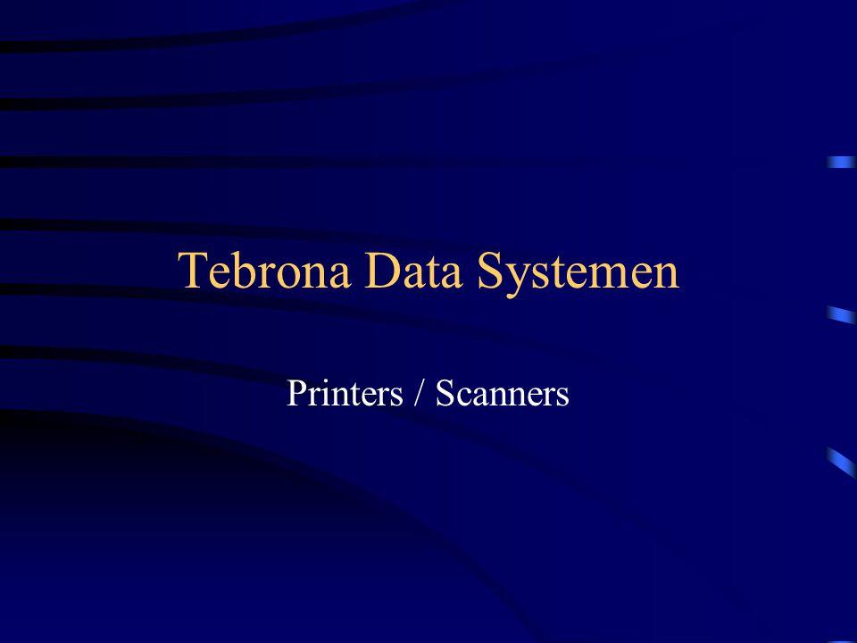 Tebrona Data Systemen Tebrona levert het complete programma printers van Hewlett Packerd.