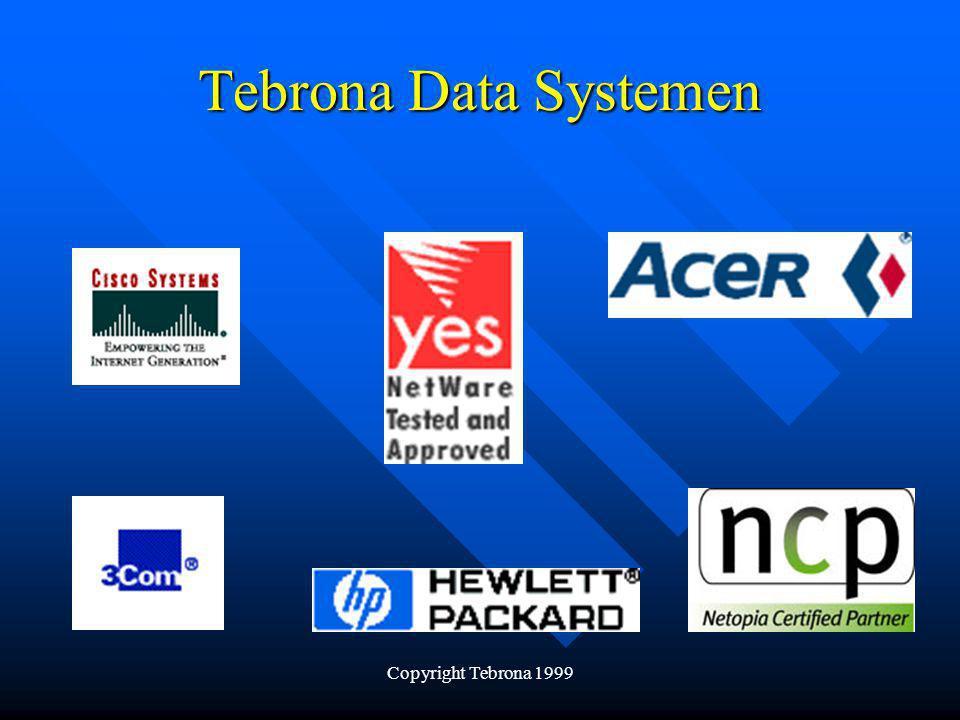 Copyright Tebrona 1999 Tebrona Data Systemen Acer Netwerk servers De Altos serie van Acer Of u nu een kleine server wilt of een enorme krachtpatser, met een Altos server is uw bedrijf verzekerd van een betrouwbare netwerk server.