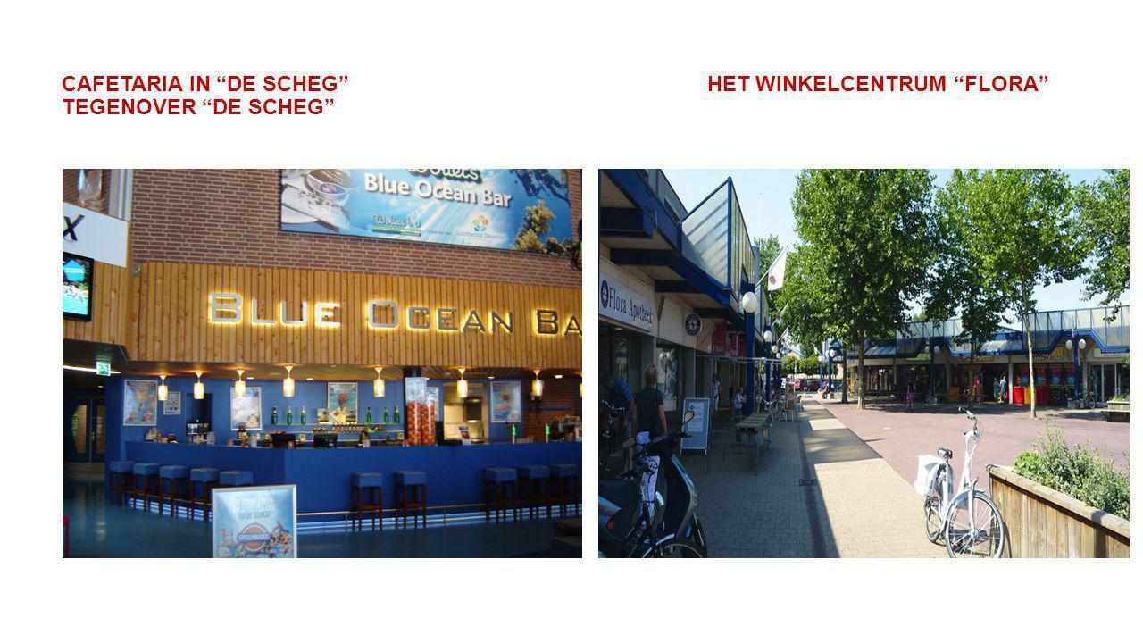 """CAFETARIA IN """"DE SCHEG"""" HET WINKELCENTRUM """"FLORA"""" TEGENOVER """"DE SCHEG"""""""