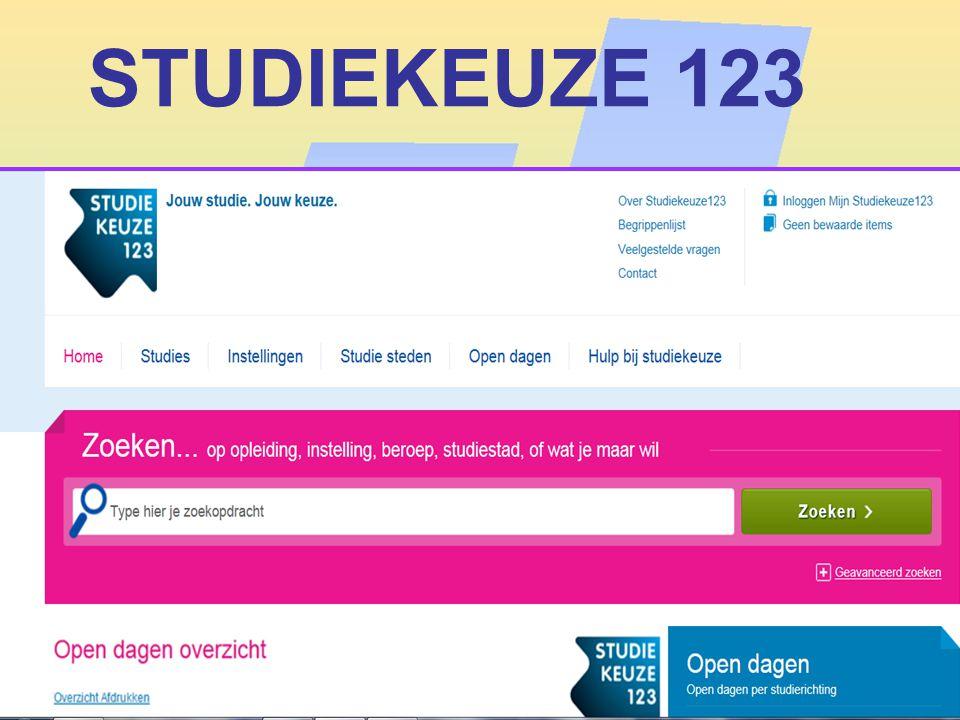 STUDIEKEUZE 123