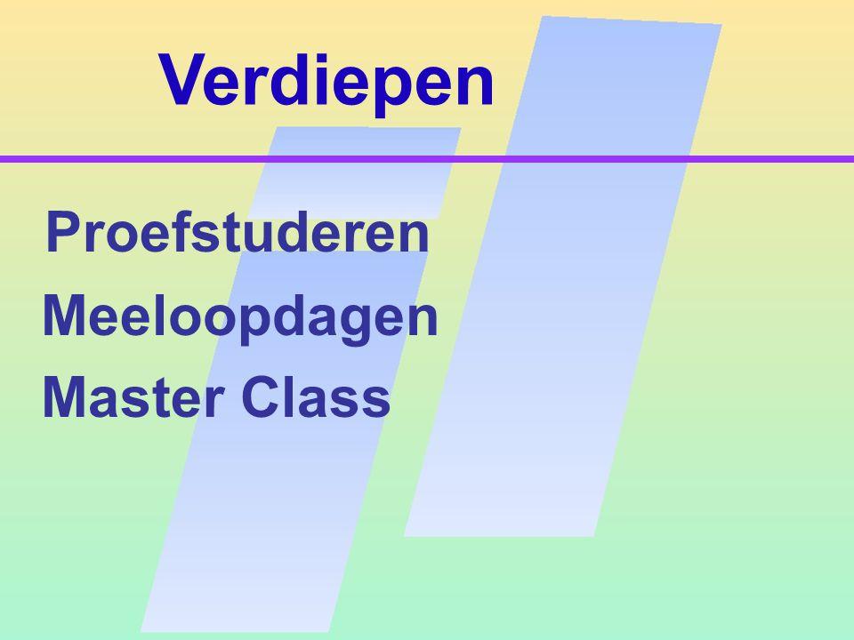 Verdiepen Proefstuderen Meeloopdagen Master Class