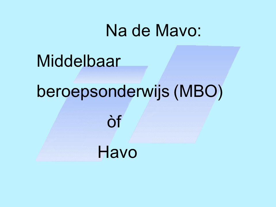 Na de Mavo: Middelbaar beroepsonderwijs (MBO) òf Havo