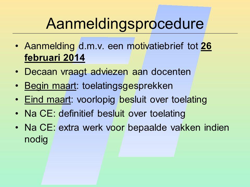 Aanmeldingsprocedure Aanmelding d.m.v.