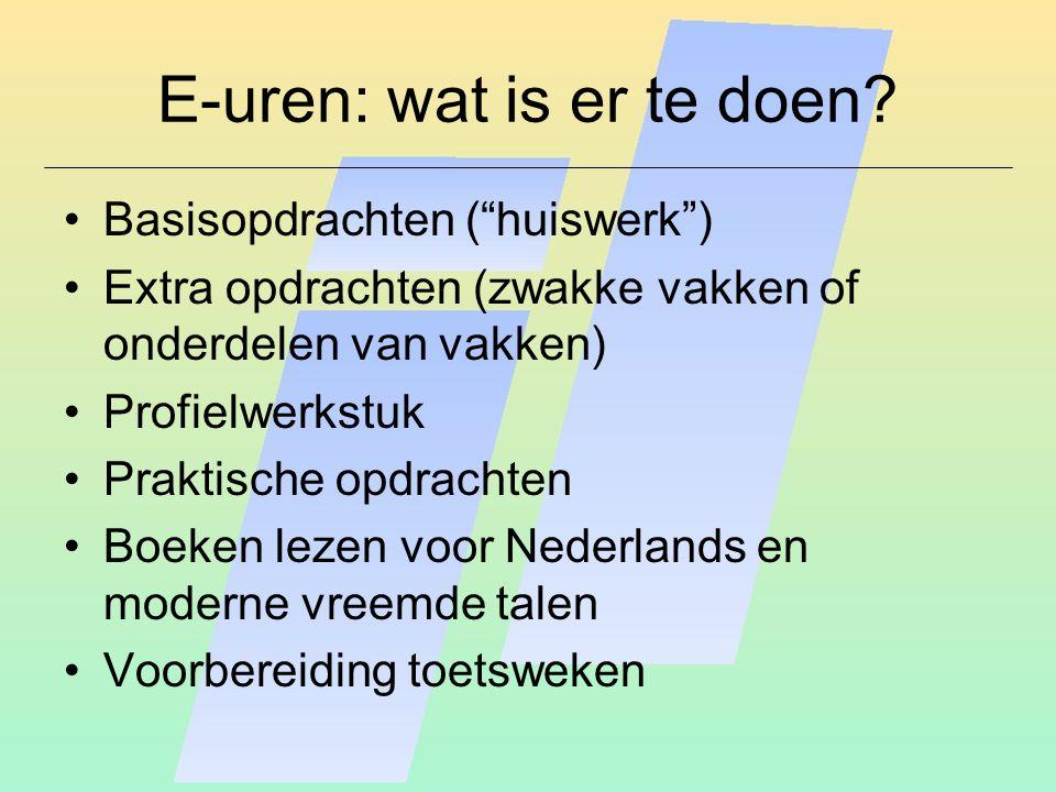 E-uren: wat is er te doen.