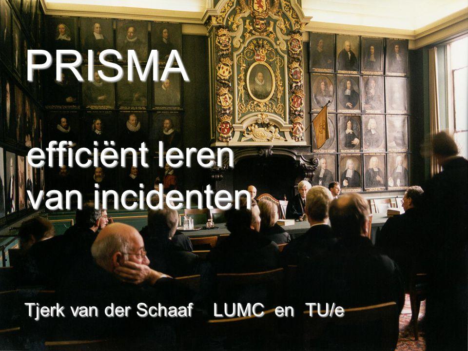 PRISMA efficiënt leren van incidenten Tjerk van der Schaaf LUMC en TU/e PRISMA efficiënt leren van incidenten Tjerk van der Schaaf LUMC en TU/e