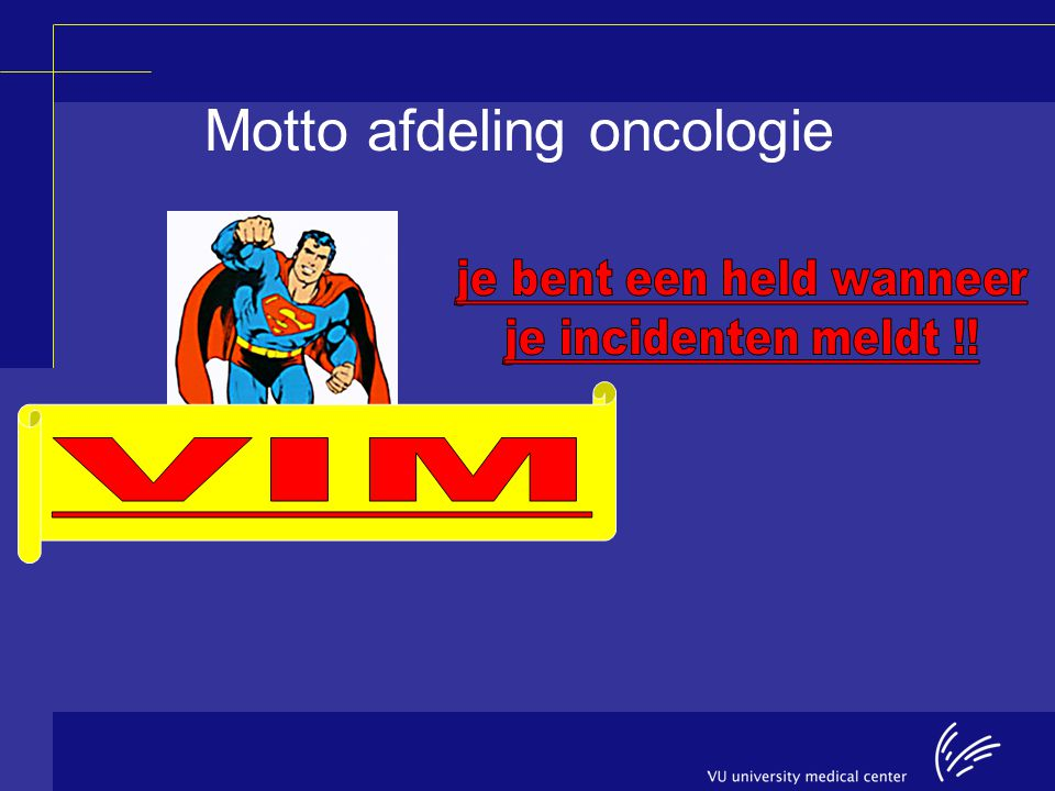 Motto afdeling oncologie
