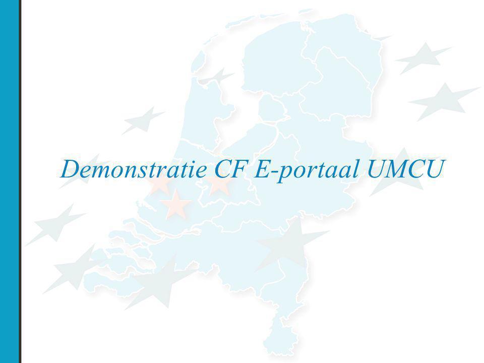 Demonstratie CF E-portaal UMCU