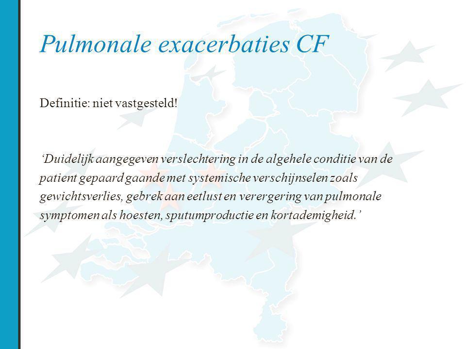 Pulmonale exacerbaties CF Definitie: niet vastgesteld.