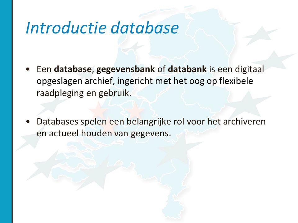 Doel database –patientenzorg –research –landelijke database / Port CF / ECFR –CBO / indicatoren