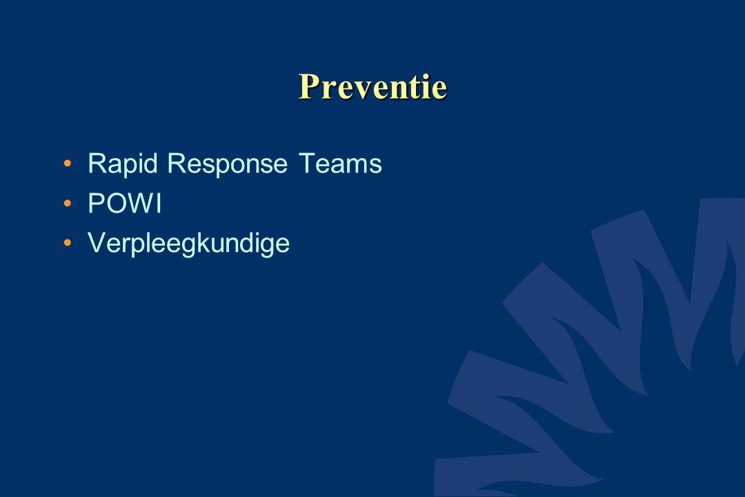 Preventie Rapid Response Teams POWI Verpleegkundige