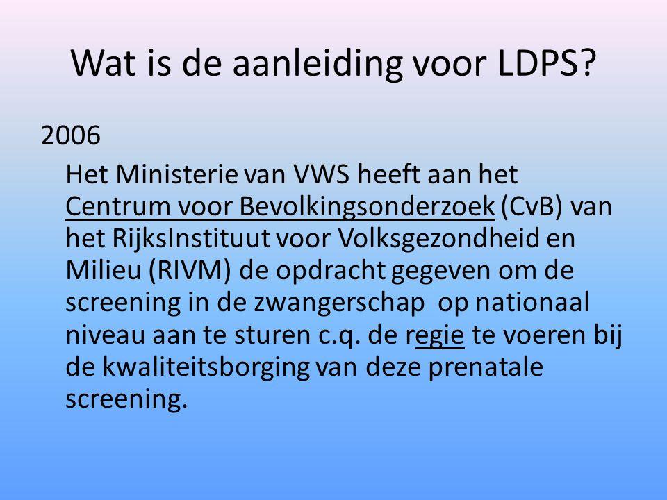 Wat is de aanleiding voor LDPS.