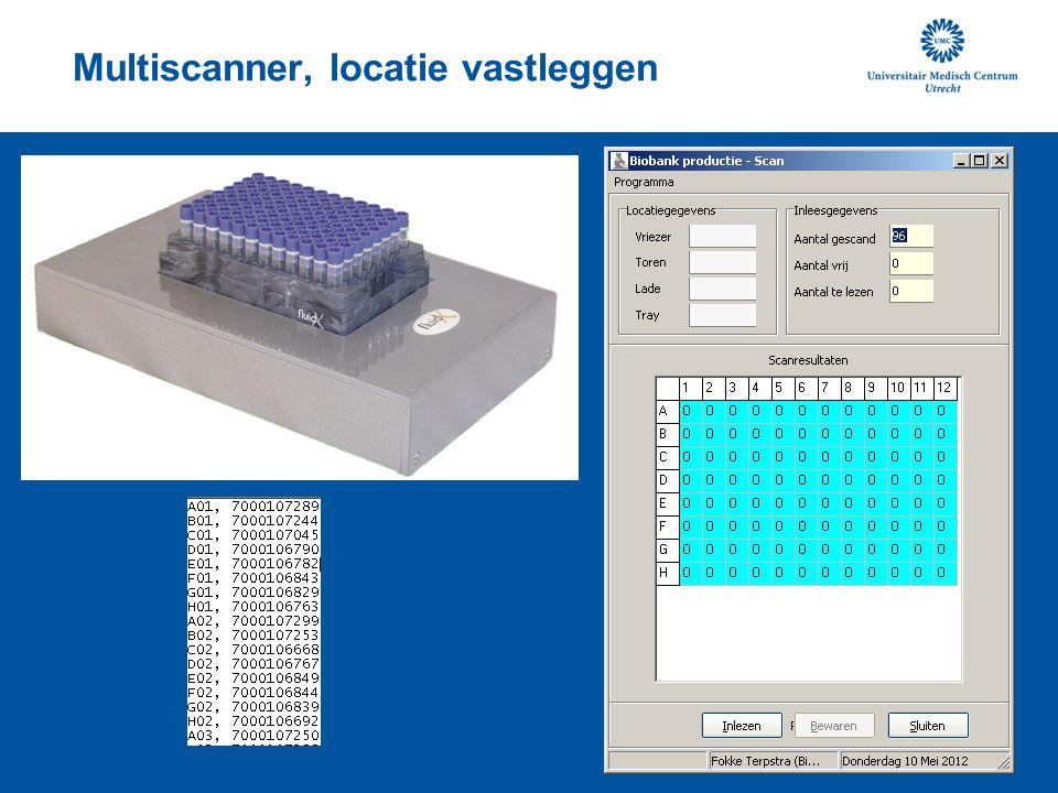 Multiscanner, locatie vastleggen