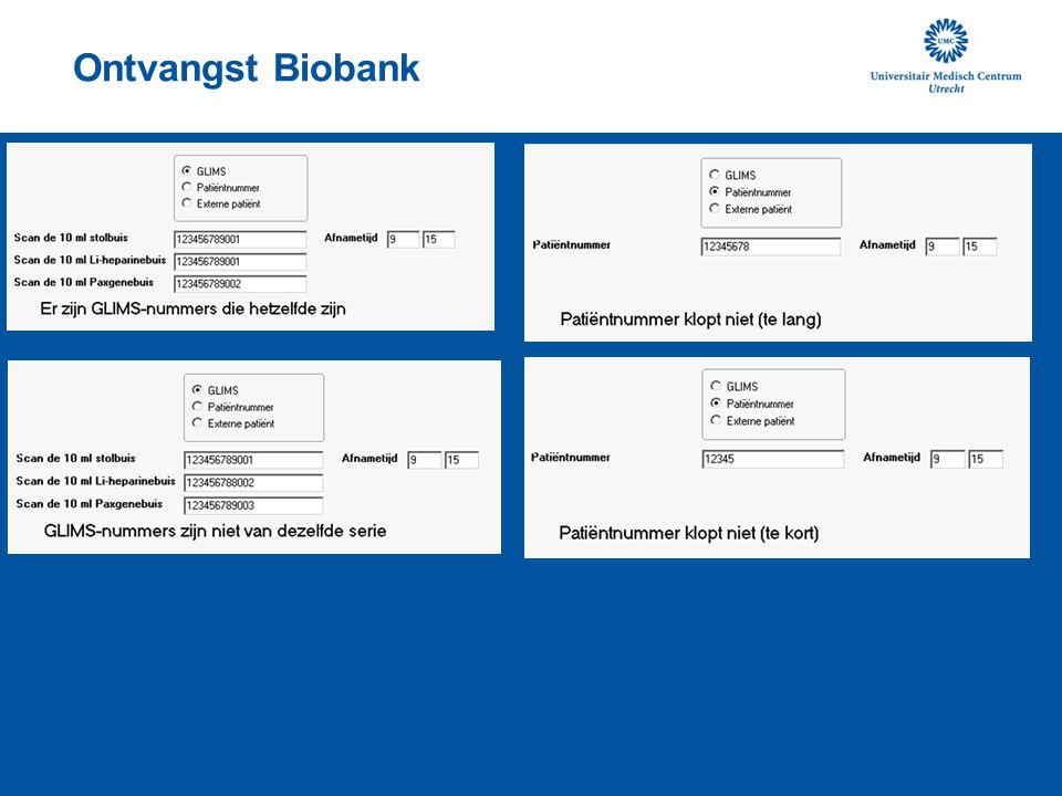 Ontvangst Biobank
