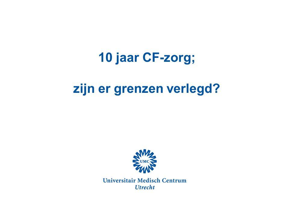 10 jaar CF-zorg; zijn er grenzen verlegd?
