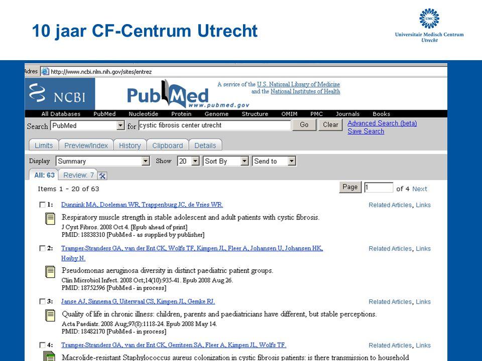 10 jaar CF-Centrum Utrecht
