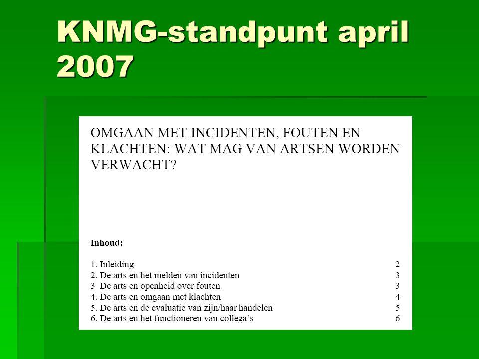 KNMG-standpunt april 2007
