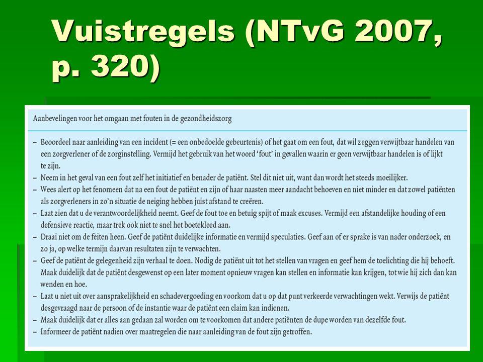 Vuistregels (NTvG 2007, p. 320)