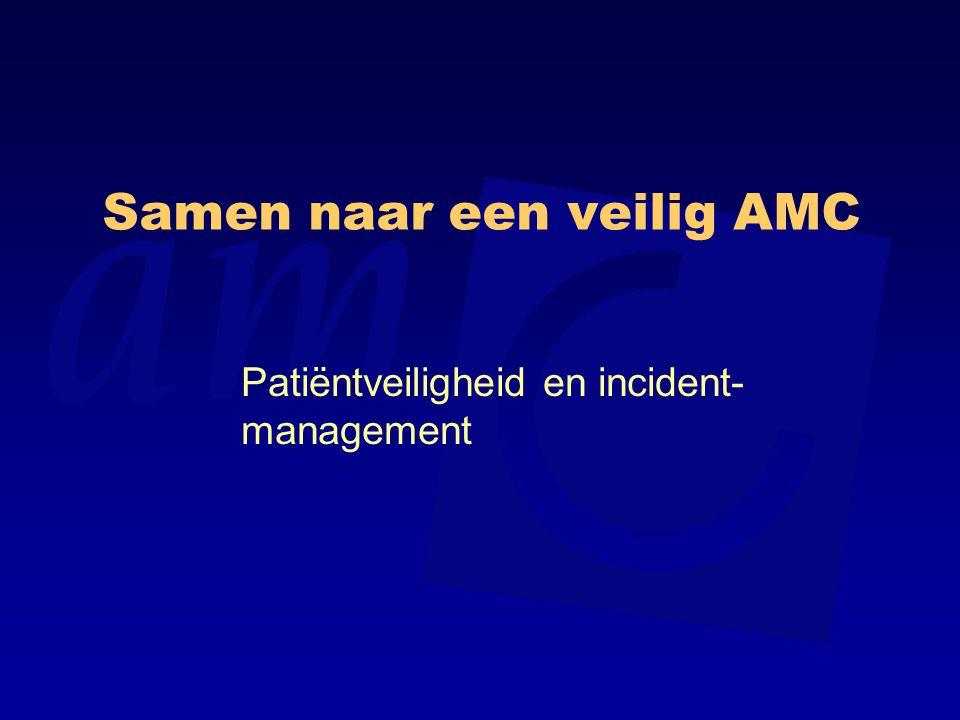 Samen naar een veilig AMC Patiëntveiligheid en incident- management