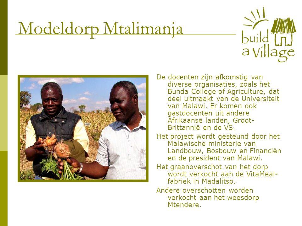 De docenten zijn afkomstig van diverse organisaties, zoals het Bunda College of Agriculture, dat deel uitmaakt van de Universiteit van Malawi. Er kome