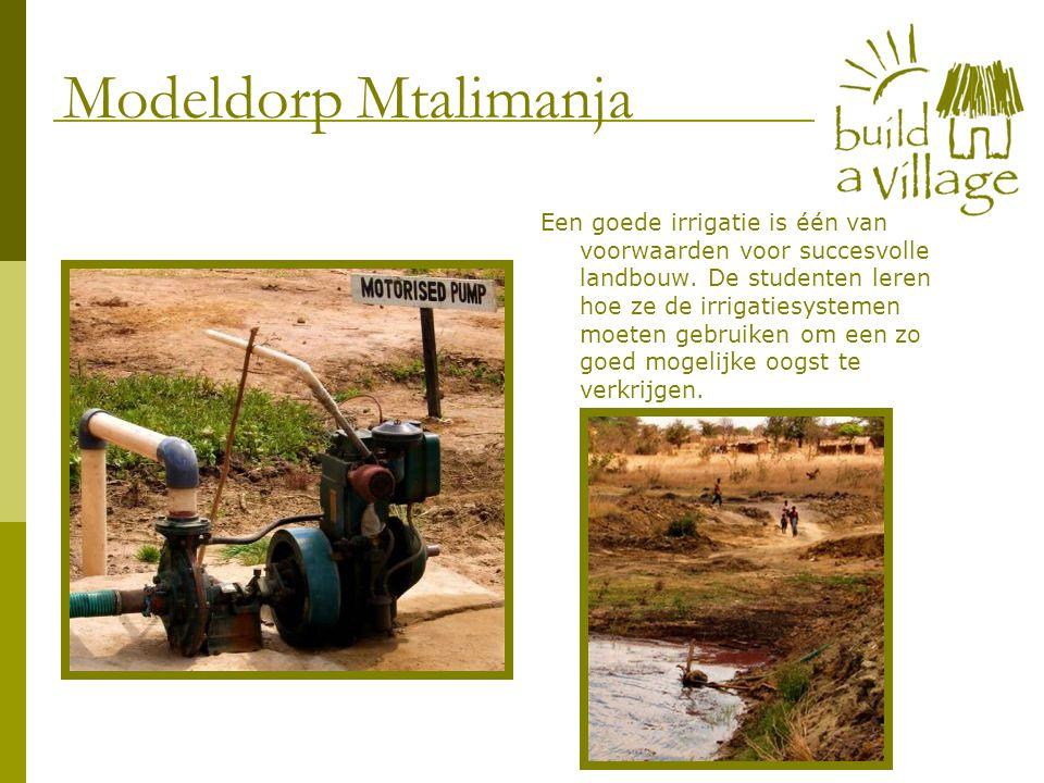 Een goede irrigatie is één van voorwaarden voor succesvolle landbouw. De studenten leren hoe ze de irrigatiesystemen moeten gebruiken om een zo goed m
