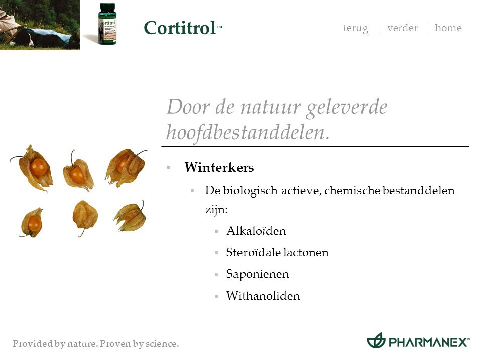 terugverderhome Cortitrol ™ Provided by nature. Proven by science.