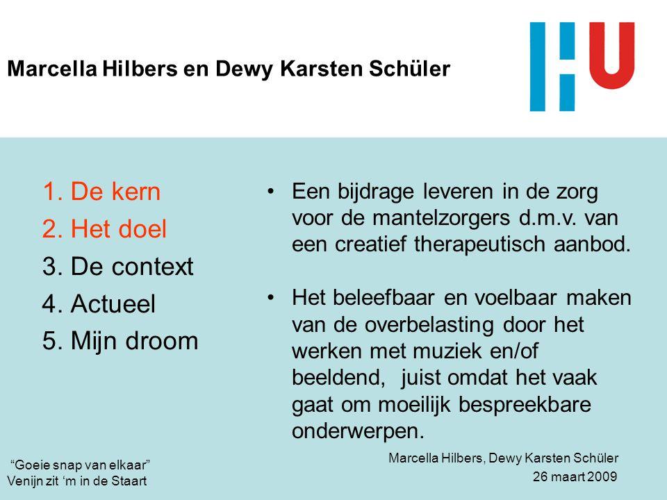 """Ellen Witteveen 26 maart 2009 """"Goeie snap van elkaar"""" Venijn zit 'm in de Staart Marcella Hilbers en Dewy Karsten Schüler 1. De kern 2. Het doel 3. De"""