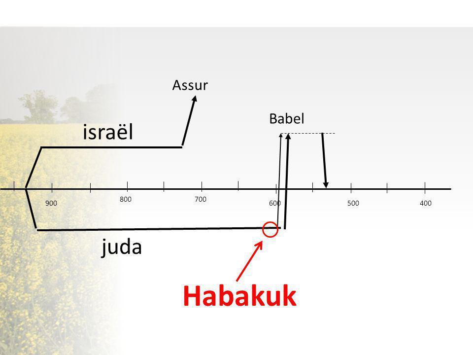 500 israël juda Assur Babel 600 700800 900 400 Habakuk
