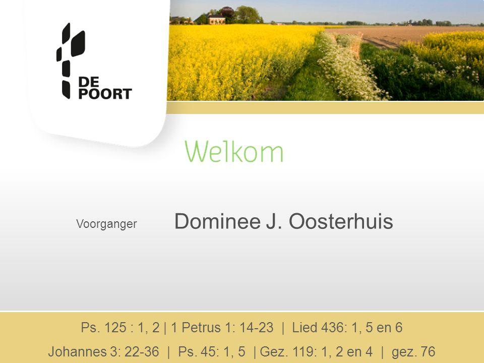 Voorganger Dominee J.Oosterhuis Ps.