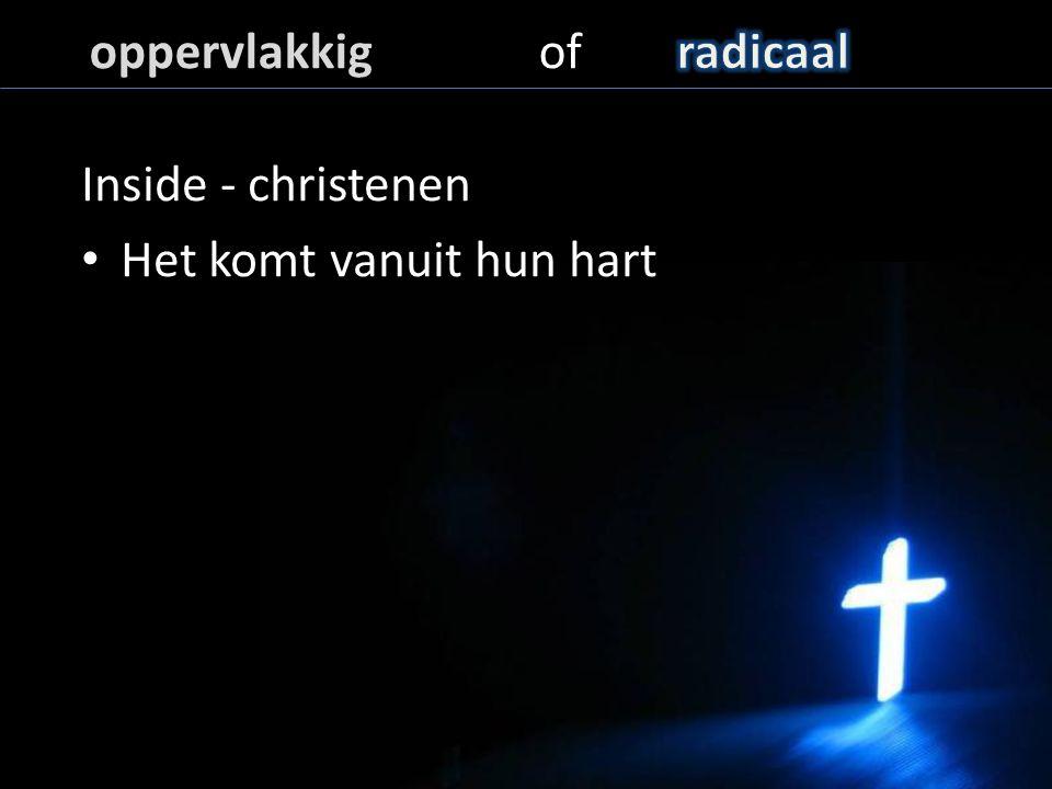 Inside - christenen Het komt vanuit hun hart