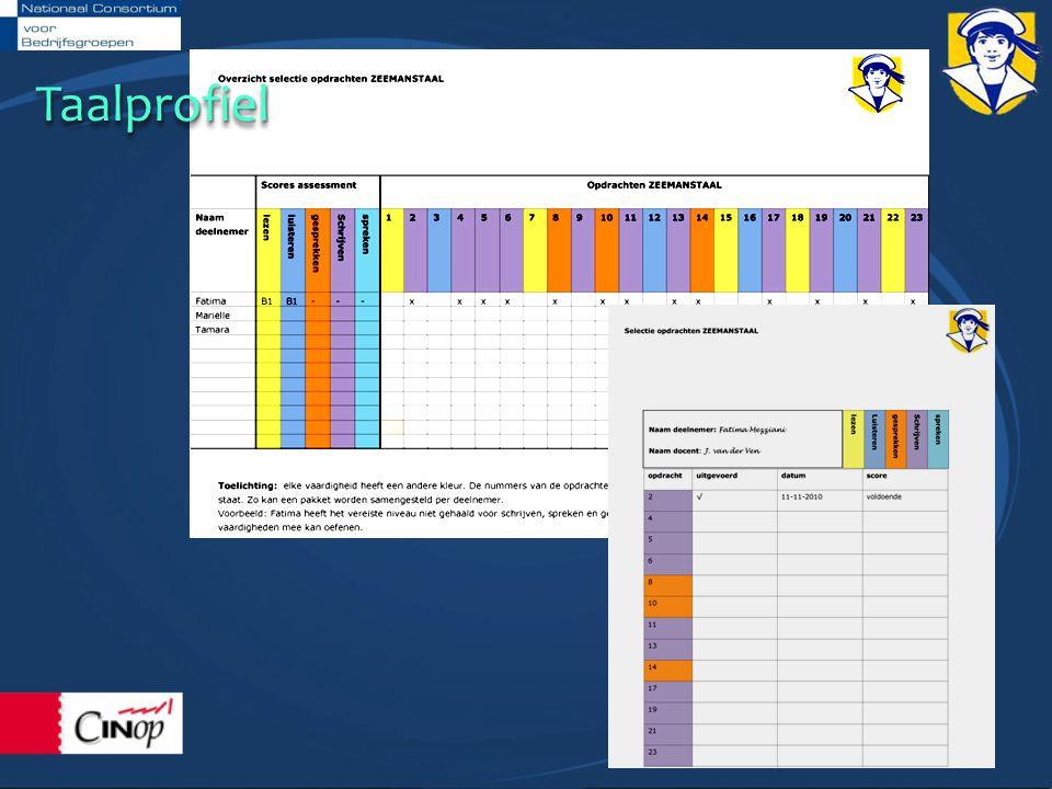 Uitgangspunten Opdrachten Losse kaarten Aansluiten bij de opleiding Alle vaardigheden Verwijzing naar Taalkaart