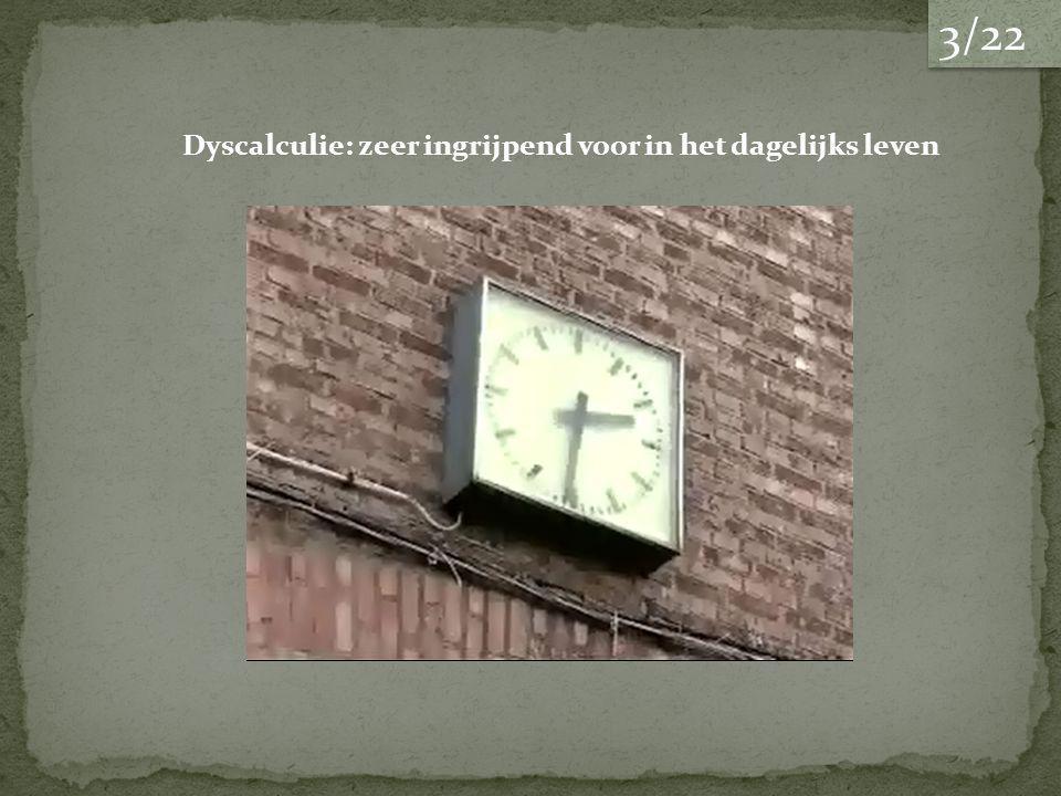 Dyscalculie: zeer ingrijpend voor in het dagelijks leven 3/22