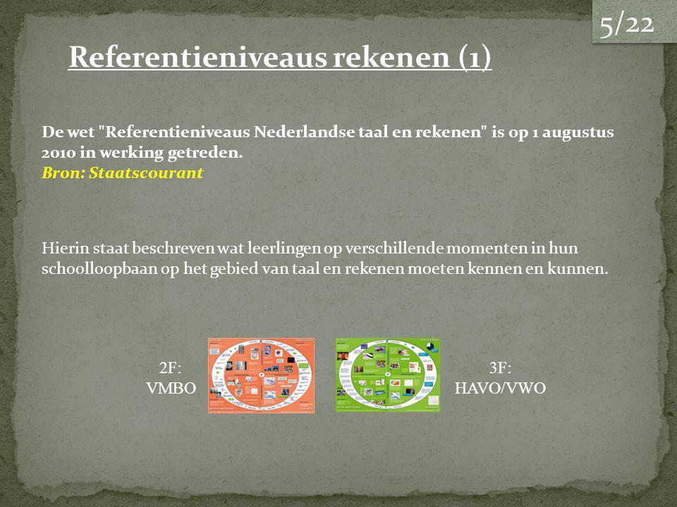 De wet Referentieniveaus Nederlandse taal en rekenen is op 1 augustus 2010 in werking getreden.