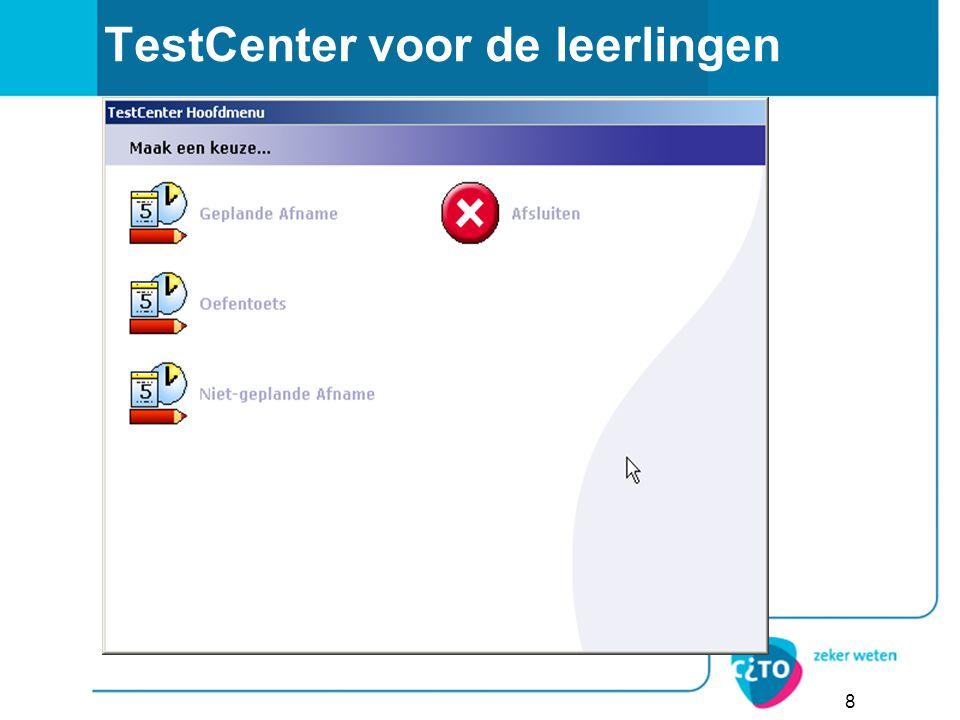 TestCenter voor de leerlingen 8