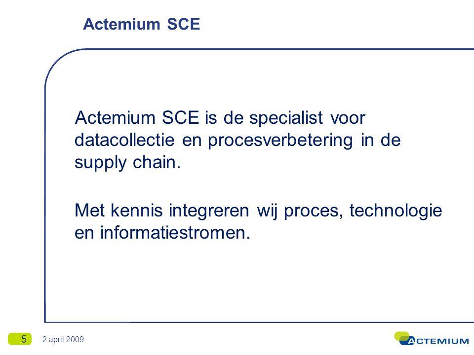 Oplossingen voor de supply chain 6 2 april 2009