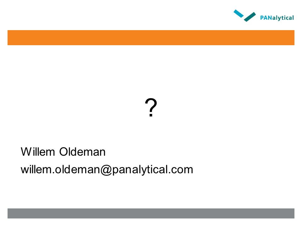 Willem Oldeman willem.oldeman@panalytical.com