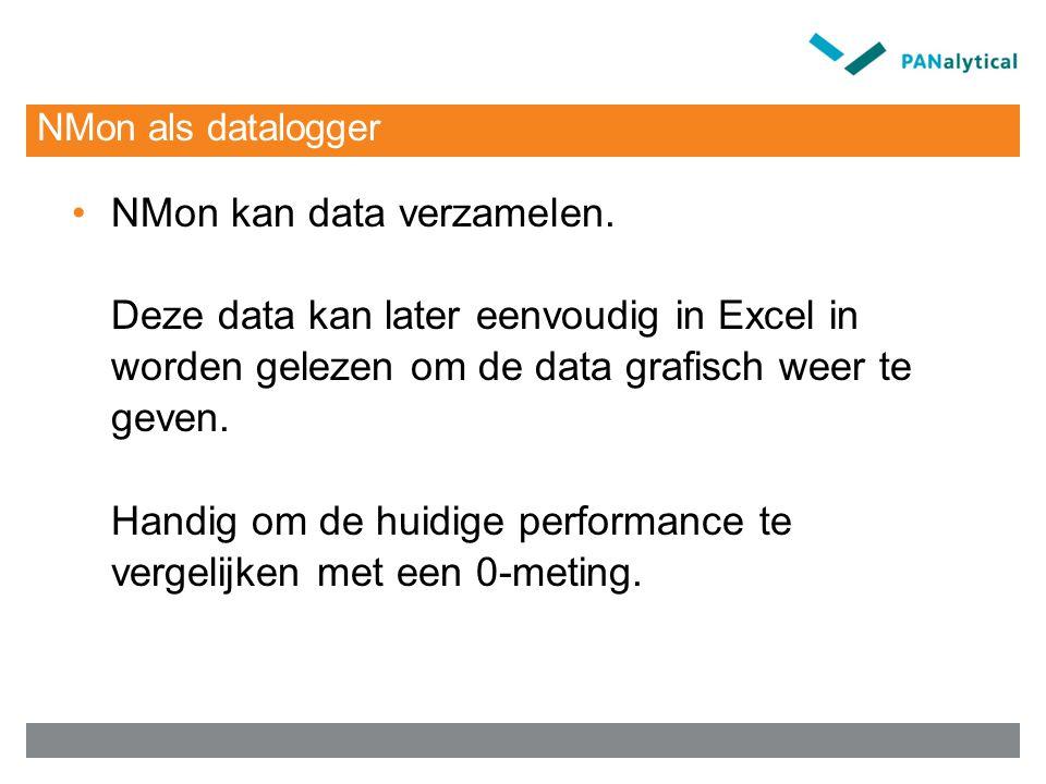 NMon als datalogger NMon kan data verzamelen.